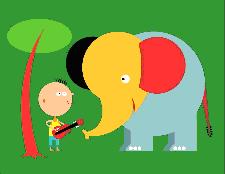 L'éléphant à bicyclette