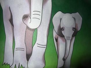 Les éléphants vont à la foire