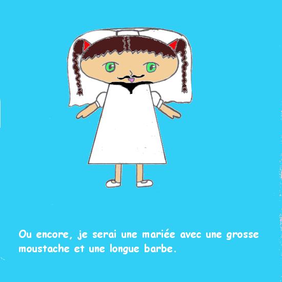Lydia se déguise - La mariée